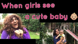 Video When girls see a cute baby | Ashish Chanchlani MP3, 3GP, MP4, WEBM, AVI, FLV April 2018