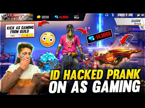 Id Hacked Prank On As Gaming By Dino😂  Wasting his 20,000 Diamonds Crying Moment - Garena Free Fire