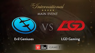 Evil Genuises vs LGD.cn, game 2