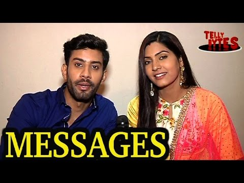 Sahil Uppal and Sangeita Chauhan receive MESSAGES