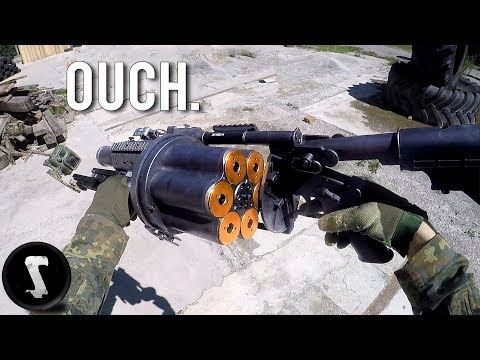 Possibly the Most Painful Airsoft Gun in Existence (40mm Grenade Launcher)