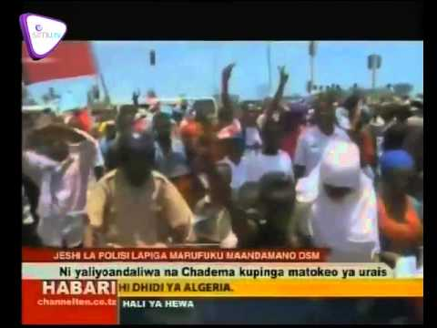 Video Polisi Dar Yapiga Marufuku Maandamano ya Chadema Kesho download in MP3, 3GP, MP4, WEBM, AVI, FLV January 2017