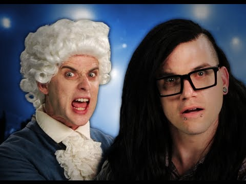 Mozart vs Skrillex. Epic Rap Battles of History Season 2. (видео)