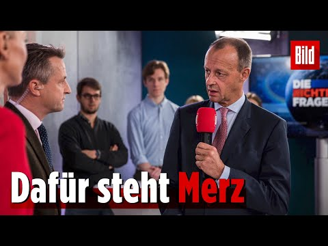 6 Fragen an – 6 Antworten von Friedrich Merz | Die Richtigen Fragen Spezial