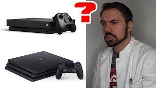 """Wo ist der Unterschied zwischen der PS4 Pro und der Xbox One X, sowie klare Verbesserung gegenüber der Xbox One und der Xbox One S.---Demnächst hier die Xbox One X vorbestellen: http://amzn.to/2slmwKkPS4 Pro: http://amzn.to/2rReCXAAngebot zur PS4 Slim: http://amzn.to/2rRyI48---Nichts verpassen wollen? Auf YouTube abonnieren: http://bit.ly/BehandlungszimmerFacebook: http://www.facebook.de/drunboxkingTwitter: http://www.twitter.de/DrUnboxKingInstagram: http://instagram.com/drunboxking/Twitch: http://www.twitch.tv/drunboxking/Privatpatient werden?http://www.drunboxking.de---Ehrlichkeit und Transparenz sind mir wichtig! Deswegen produziere ich meine Videos nach dem """"Der Eid des Doc"""" Prinzips! Alles Weitere auf http://DrUnboxKing.de/eidManche Links in der Videobeschreibung können Affiliate-Links sein. Wer mich unterstützen möchte, kann über die Links etwas kaufen! Das Coole ist, es kostet Euch keinen Cent mehr! Vielen Dank für Eure Unterstützung!Dieses Video beinhaltet keine bezahlte Produktplatzierung.---"""