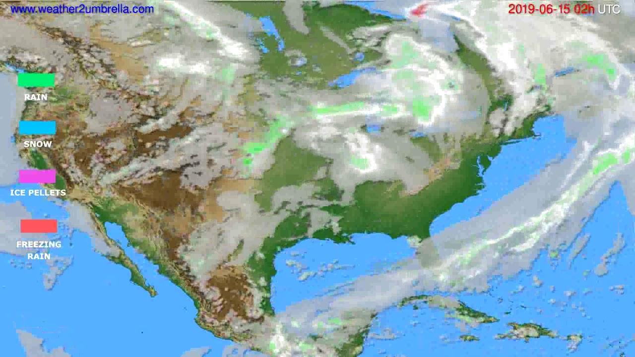 Precipitation forecast USA & Canada // modelrun: 12h UTC 2019-06-12