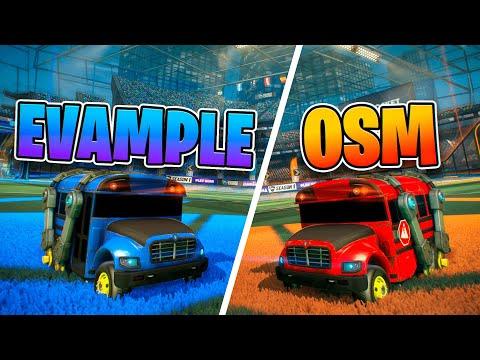 OSM vs Evample FREESTYLE 1V1 (BATTLE BUS)