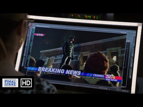 The Green Arrow returns during The Battle For The Glades Scene | Arrow 3x12