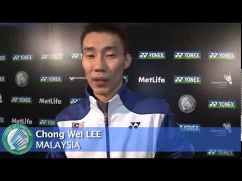 Lee - Malaysia's top singles star Datuk Lee Chong Wei speaks about his hopes for the 2014 Yonex All England.