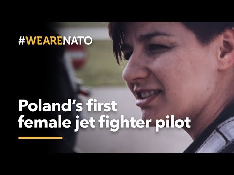 Poland's first female MiG-29 fighter pilot - #W...