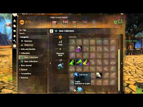 GW2 - Today we're having a look at collections, finishers, minis, the combat log and more! I'll do another video tomorrow of your reqeuested things to see so let m...