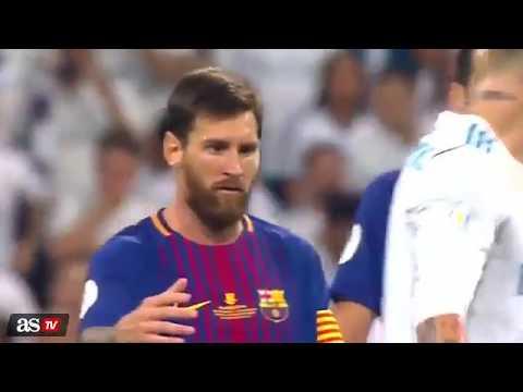 Sergio Ramos tallet me Messin