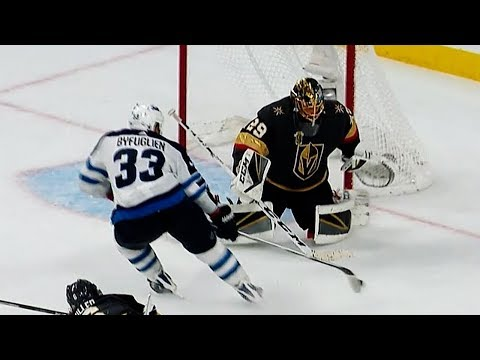Marc-Andre Fleury does it all in Golden Knights' win over Jets