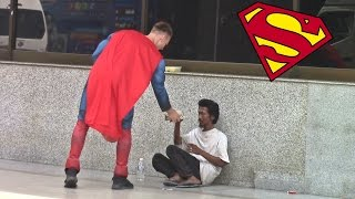 Superman helping the homeless in Malaysia 2017