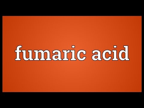 Fumaric acid Meaning