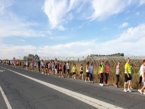 Marcha reivindicativa, desde La Redondela a la Playa (Sendero Verde).