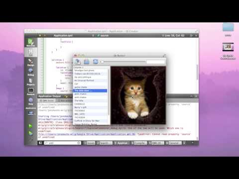 QT - Jens Bache-Wiig demonstrates how to use Qt Quick Controls with Qt 5.1.