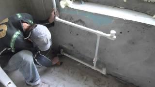 Демонтаж  труб  отопления