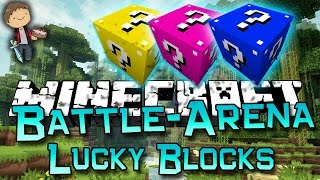 Minecraft: Lucky Block Battle-Arena Part 1 of 2 w/Mitch&Friends! (Lucky Block Mod)