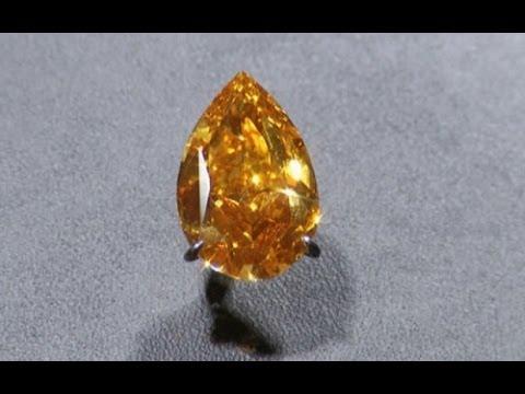 Biggest orange diamond up for sale