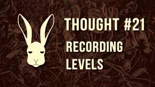 Thought #21 - Recording Levels