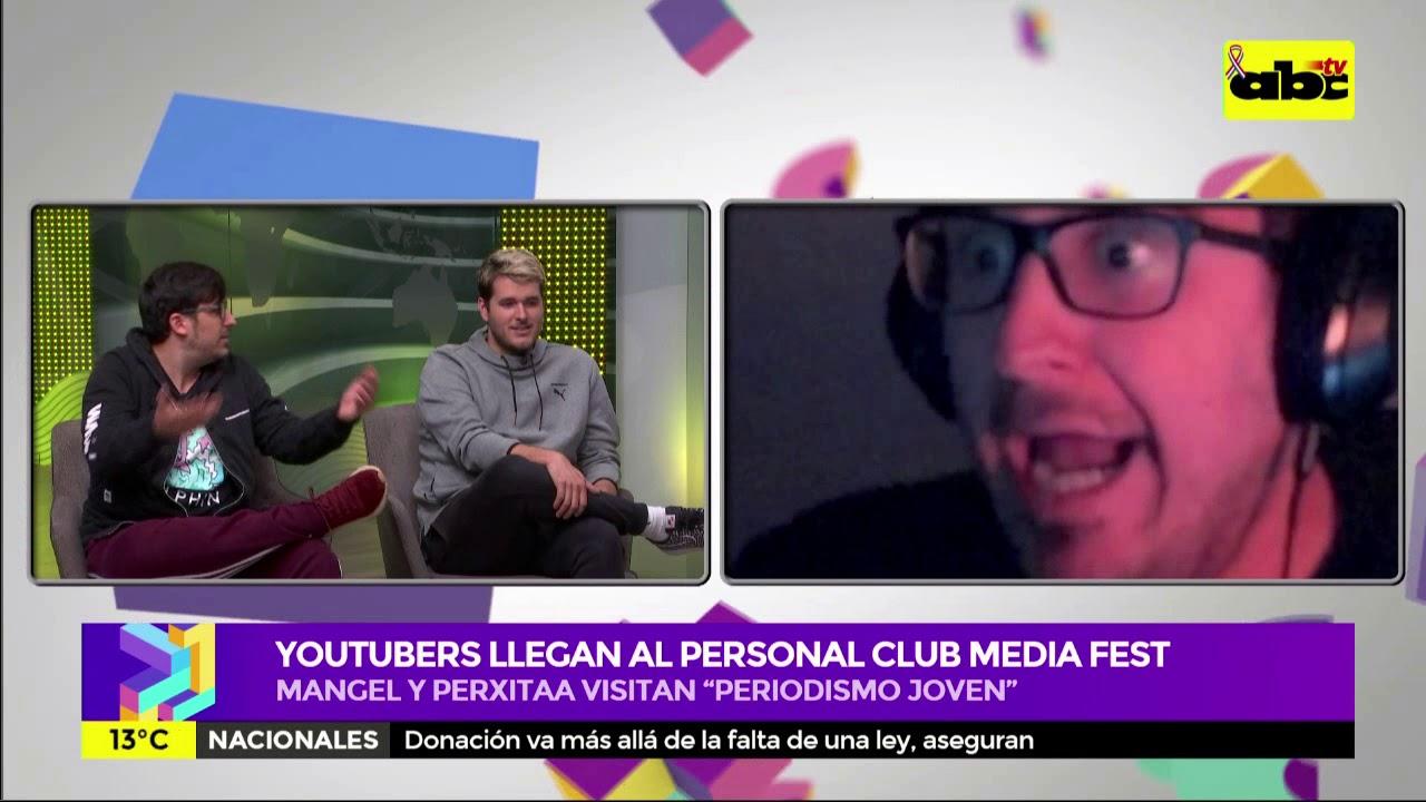 """Personal Club Media Fest: Mangel y Perxitaa visitaron """"Periodismo Joven"""""""