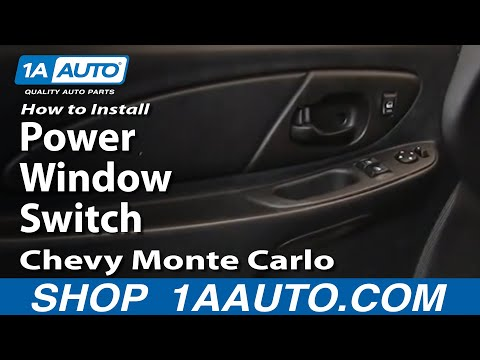How To Install Replace Power Window Switch Chevy Monte Carlo 00-07 1AAuto.com