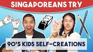 Video Singaporeans Try: 90's Kids Self-creations MP3, 3GP, MP4, WEBM, AVI, FLV Desember 2018