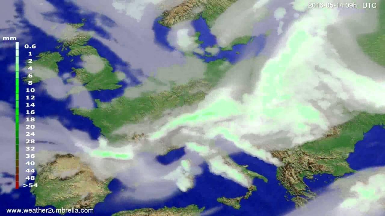 Precipitation forecast Europe 2016-05-10