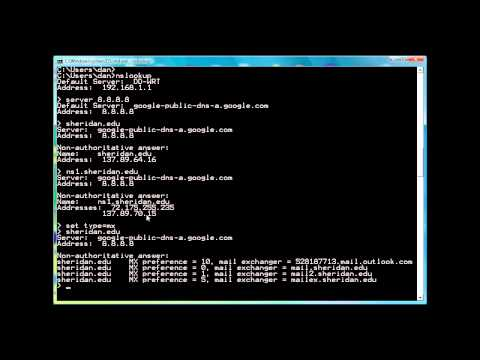 Using nslookup to resolve domain names to ip addresses