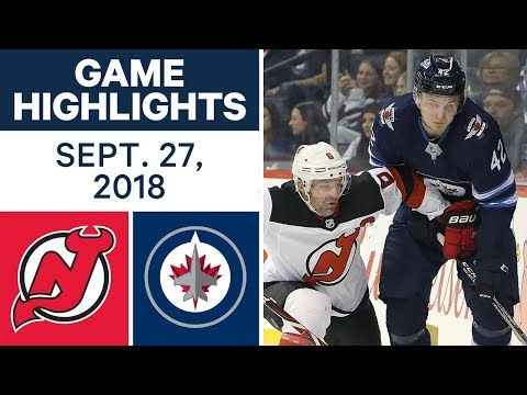 Video: NHL Pre-season Highlights | Devils vs. Jets - Sept. 27, 2018