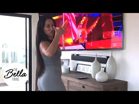 Bella's Battleground viewing party is a BLAST! Nikki gets down and boogies while cheering on her man