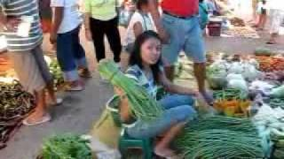 La Union Philippines  City new picture : Food Market in Bauang Philippines in Province of La Union near San Fernando
