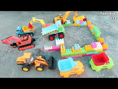 Construction Vehicles For Children - Dum Truck Excavator,  Loader - Building Blocks for Children