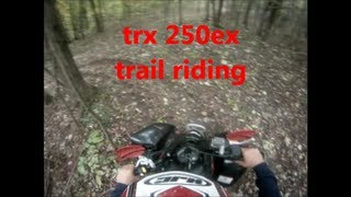 3. 2007 honda trx 250ex trail riding