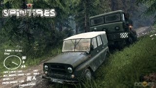 Spin Tires 2013 Tech Demo Update - UAZ Jeep Test Drive Part 3