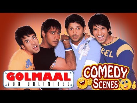 Golmaal Fun Unlimited - All Comedy Scenes - Ajay Devgn - Arshad Warsi  IndianComedy