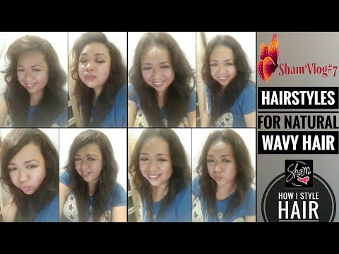 Curly hairstyles - How I Style My Curly Hair  Sham Vlog#7  Hairstyles for Natural Wavy Hair