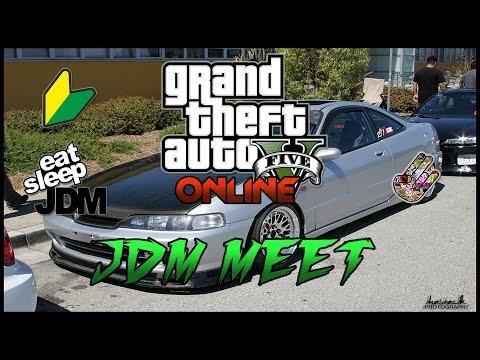 GTA V ONLINE SLAMMED SOCIETY CAR MEET