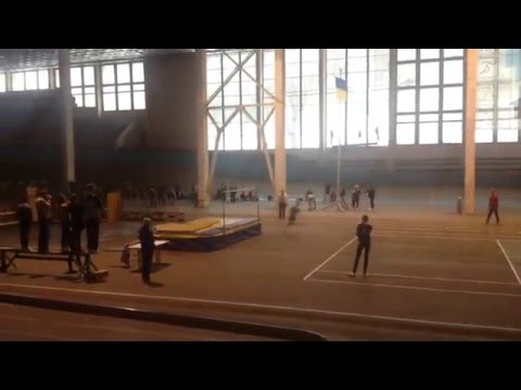 Спроба Андрія Ільницького (216см) на зимовому Чемпіонаті Львівської області 2014