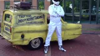 Del Boys van and the Stig