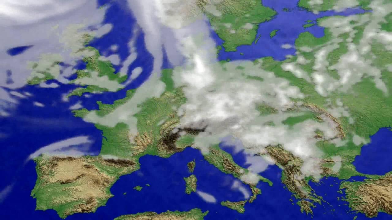 Cloud forecast Europe 2016-07-22