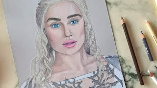 Hey everyone! This one is for all the Game of Thrones Fans :) I am drawing Daenerys a.k.a. Khaleesi, the mother of dragons :) Music by Rameses B - Game Of ...