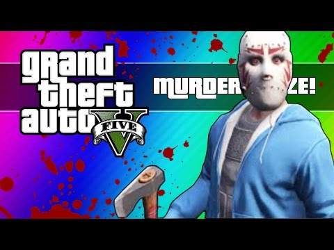 GTA 5 Online: Murder Maze – First Person Edition! (GTA 5 Next Gen Funny Moments)