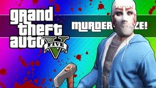 GTA 5 Online: Murder Maze - First Person Edition! (GTA 5 Next Gen Funny Moments)