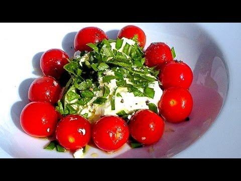 Warmer Tomatensalat Rezept   Vegetarische Sommerküche   Der Bio Koch #645