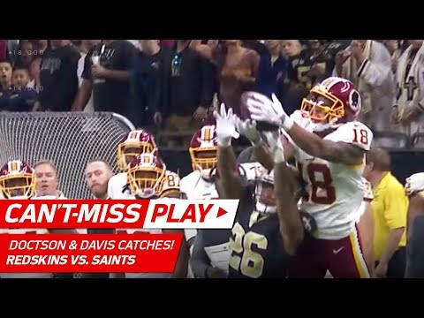 Video: Doctson & Davis Makes Great Catches on TD Drive! | Can't-Miss Play | NFL Wk 11 Highlights