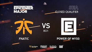 MYSG vs Fnatic, EPICENTER Major 2019 SA Closed Quals , bo1 [kvyzee]