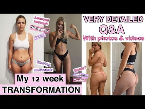 12 WEEK TRANSFORMATION - Week One Workout Video Vs Week 12 - Detailed Q&A