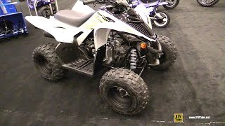 10. 2017 Yamaha Raptor 90 Sport ATV - Walkaround - 2017 Montreal Motorcycle Show